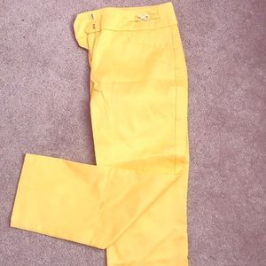 Size 0 dress pants.  Banana yellow.  Worn once.